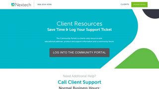 Nextech Community Portal