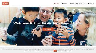 Niantic Kids Parent Portal
