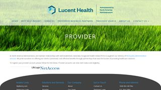 North American Administrators Provider Portal