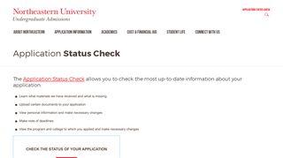 Northeastern Application Portal