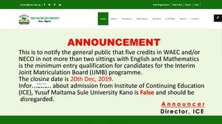 Northwest University Kano Portal