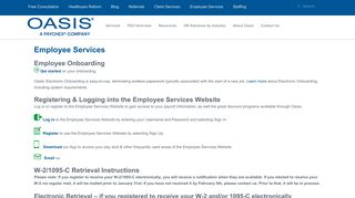 Oasis Outsourcing Employee Portal