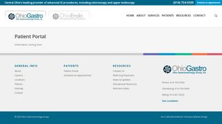 Ohio Gastro Patient Portal