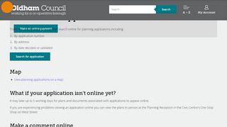 Oldham Planning Portal