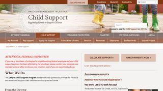 Oregon Child Support Gov Customer Portal