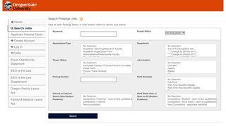 Oregon State University Jobs Portal