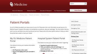 Ou Patient Portal