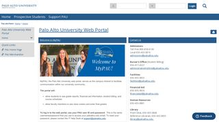 Palo Alto University Portal