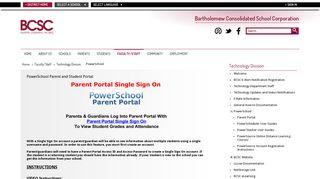 Parent Portal Bcsc