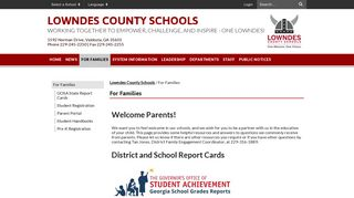 Parent Portal Lowndes