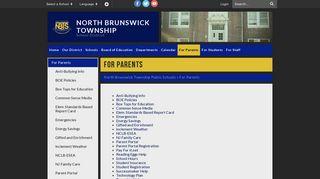 Parent Portal North Brunswick