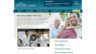 Partners Biobank Portal