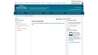 Partners Employee Portal