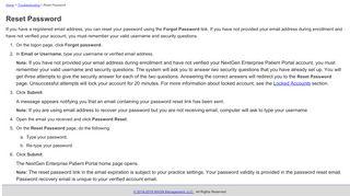 Patient Portal Forgot Password