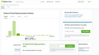 Patient Portal Representative Salary