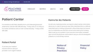Peachtree Women's Specialists Patient Portal