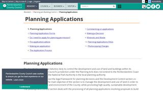 Pembrokeshire Planning Portal