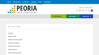 Peoria Unified School District Employee Portal