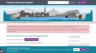 Perth Planning Portal