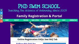 Phd Swim School Portal