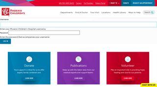 Phoenix Children's Hospital Physician Portal