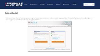 Pikeville Medical Center Patient Portal