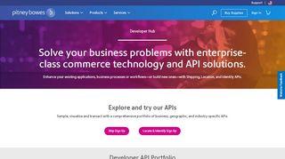 Pitney Bowes Developer Portal