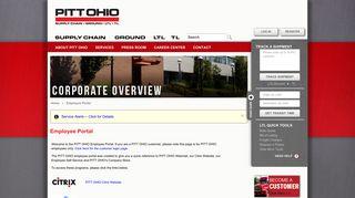 Pitt Ohio Employee Portal