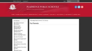 Plainedge Parent Portal