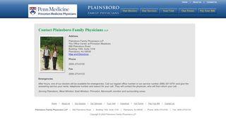 Plainsboro Family Physicians Patient Portal