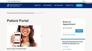 Planned Parenthood San Diego Portal