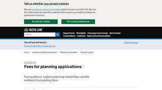 Planning Portal Application Fees 2015