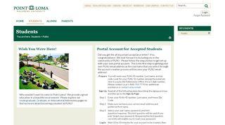 Plnu Student Portal