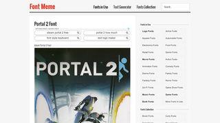 Portal 2 Logo Font