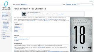Portal 2 Test Chamber 18