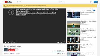 Portal 2 Trailer Gameplay