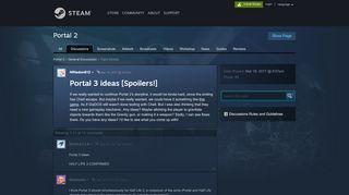 Portal 3 Ideas