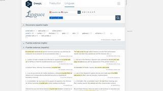 Portal Web En Ingles