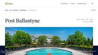 Post Ballantyne Resident Portal