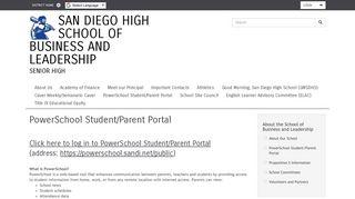 Powerschool Student Portal Sdusd