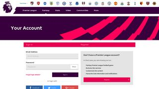 Premierleague Com User Portal