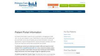 Primary Care Partners Patient Portal