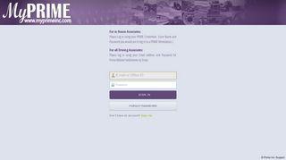 Prime Inc Employee Portal
