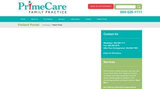 Primecare Family Practice Patient Portal