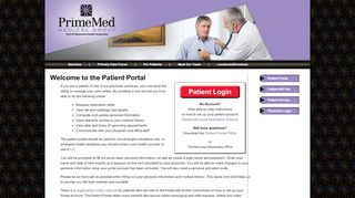 Primemed Patient Portal
