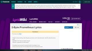 Prometheus Portal 2 Lyrics