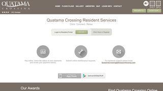 Quatama Crossing Resident Portal