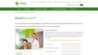 Quest Diagnostics Provider Portal