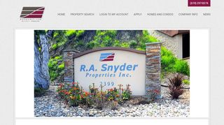 Ra Snyder Resident Portal