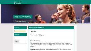 Reading University Accommodation Portal